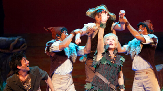 Cathy rigby and the lost boys in peter pan 111312