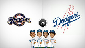 Mlbbrewers dodgers bobble