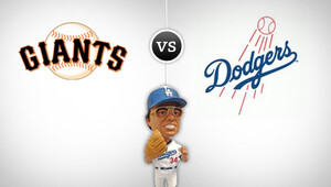 Giants dodgers promo bobble