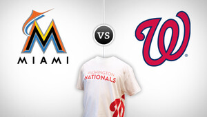 Mlb marlines nationals promoshirt