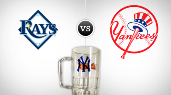 Mlb rays yankees promoglass 081412