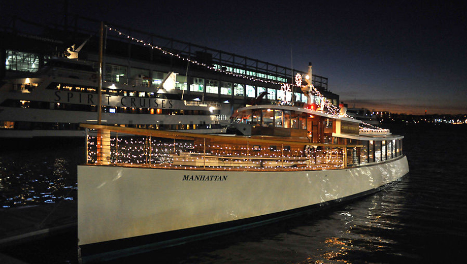 Cocoa & Carols or Holiday Jazz Cruises on the Yacht Manhattan $33.60 ($56 value)
