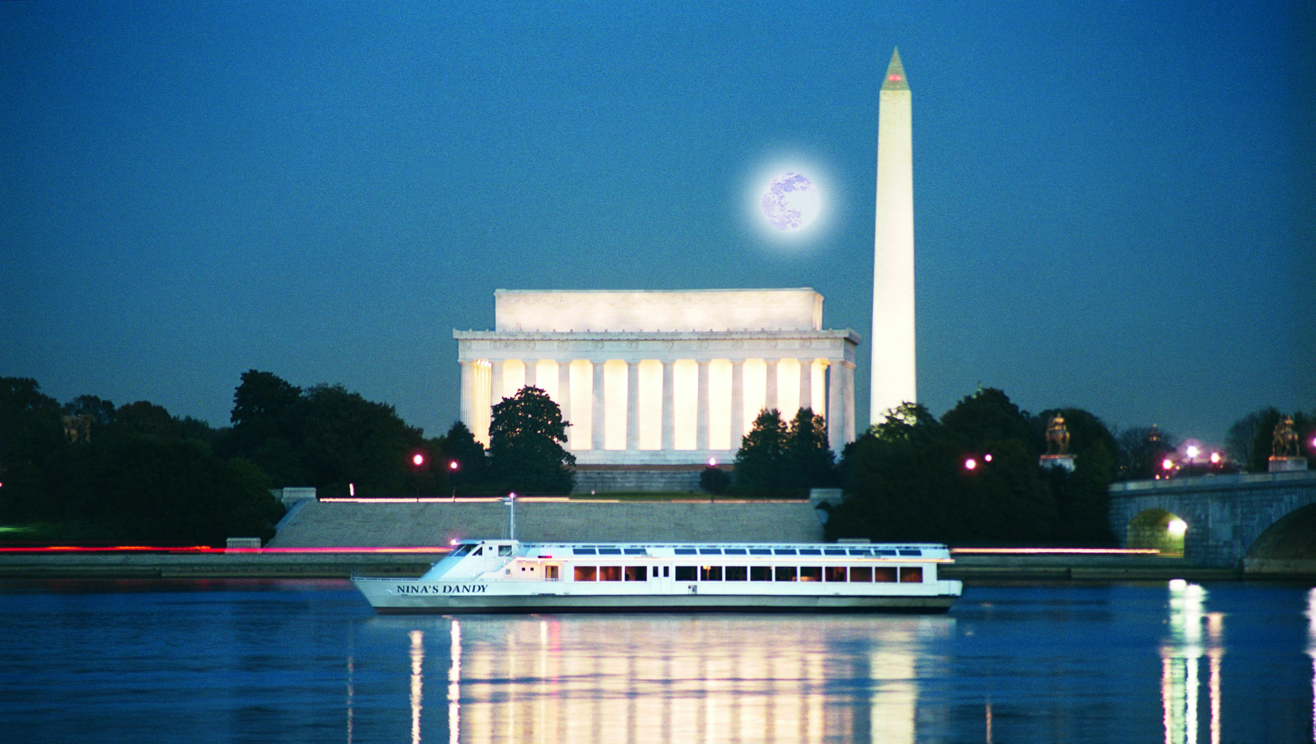 Cruise Past the National Monuments: Candlelight Dinner & Dancing $52.80 - $64.80 ($88 value)