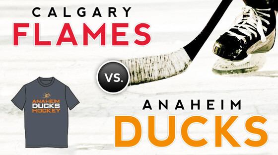 Nhl flames ducks tshirt