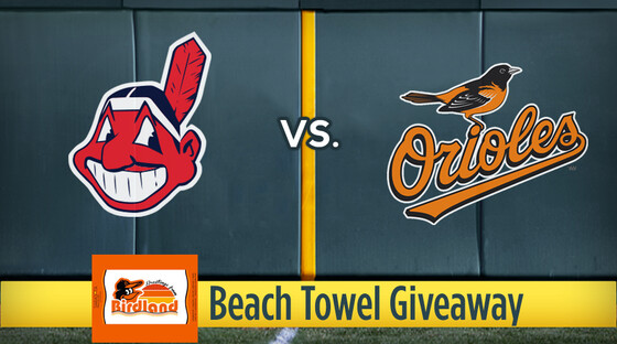 Mlb indians orioles beachtowel
