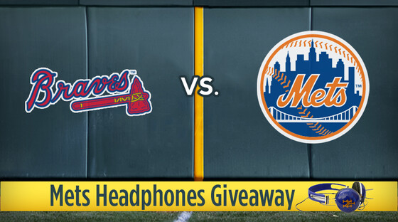 Mlb braves mets headphones