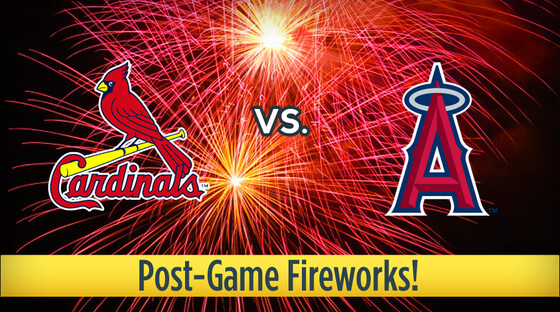 Mlb cardinals angels fireworks