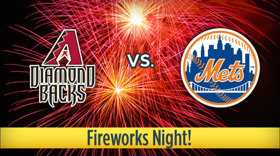 Mlb diamondbacks mets fireworks