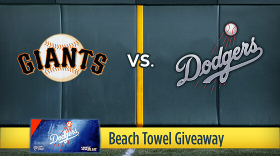 Mlb giants dodgers beachtowel