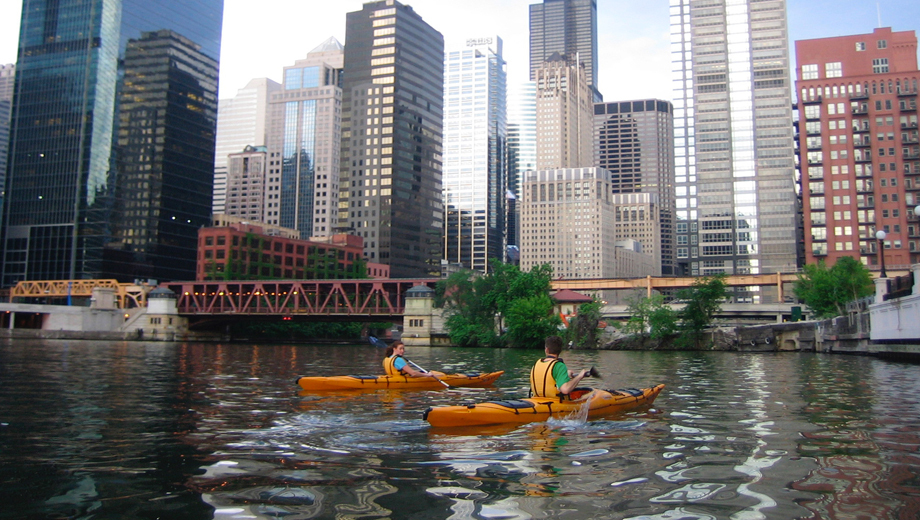See Chicago's Architecture From the River on a Kayak Trip + Architectural Tour $32.50 ($65 value)