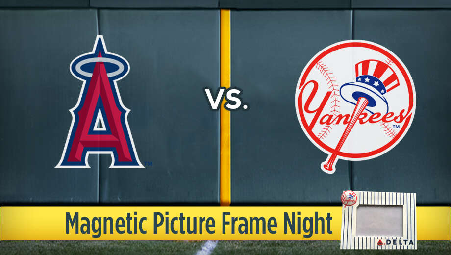 Los Angeles Angels Vs New York Yankees Magnetic Picture Frame