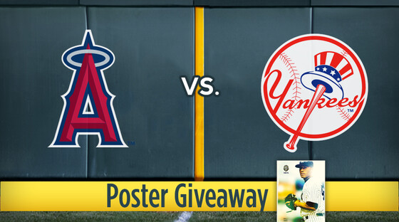 Mlb angels yanks poster