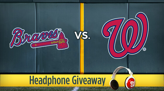 Mlb braves nationals headphones