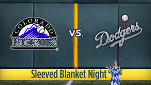 Mlb rockies dodgers sleevedblanket
