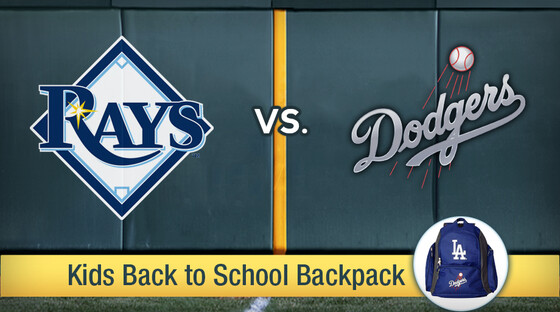 Rays dodgers backpack 920