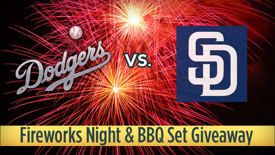 Mlb dodgers padres fireworks grill