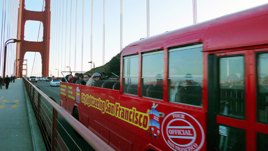 City Sightseeing's Hop-On, Hop-Off Bus Tour: Golden Gate/Sausalito $13.50 - $15.00 ($26.99 value)