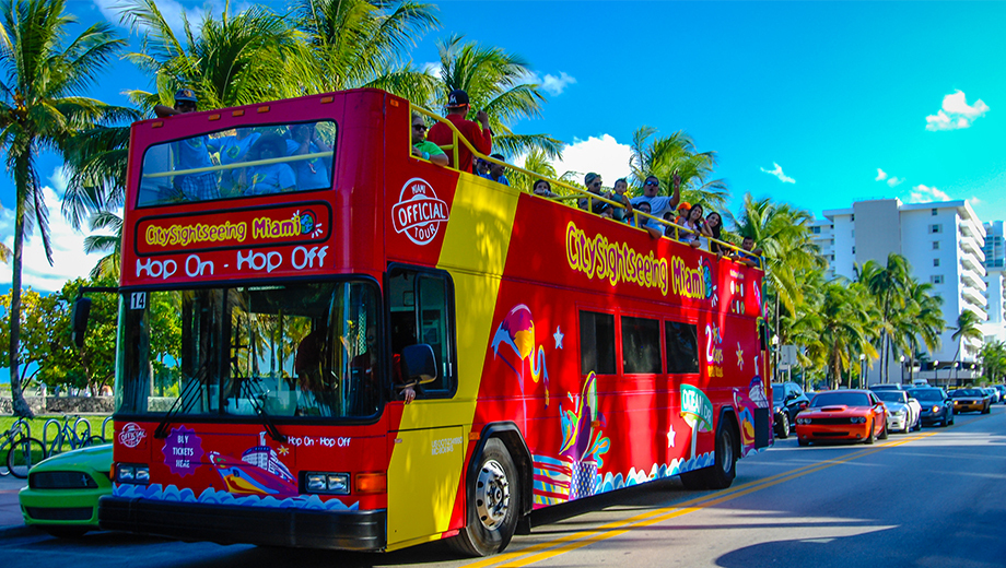 Hop-On, Hop-Off Bus Tour: See Miami's Famous Landmarks at Your Own Pace $13.00 - $17.50 ($26 value)