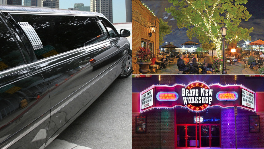 Enjoy a Limo Tour and Night of Comedy $69.00 ($138 value)