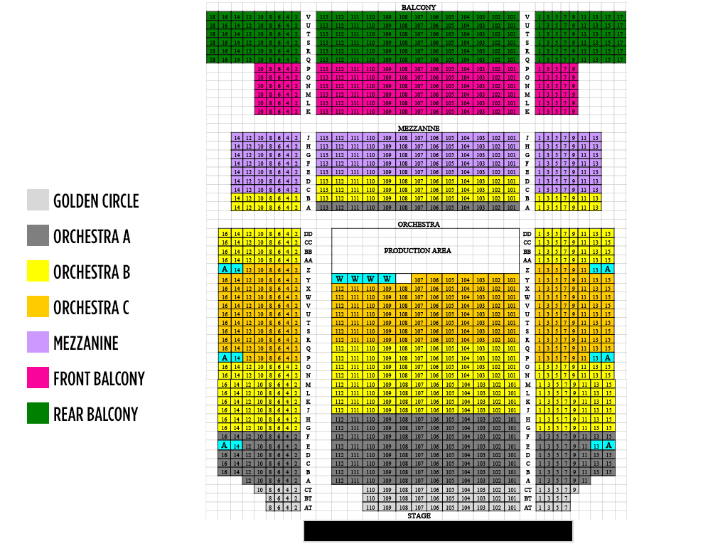Bergen performing arts center newark tickets schedule seating