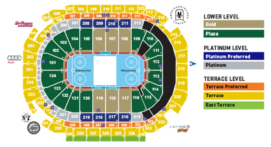 American airlines center dallas fort worth tickets schedule