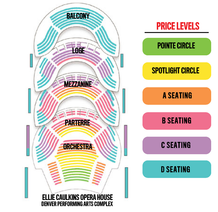 Ellie caulkins opera house denver tickets schedule seating