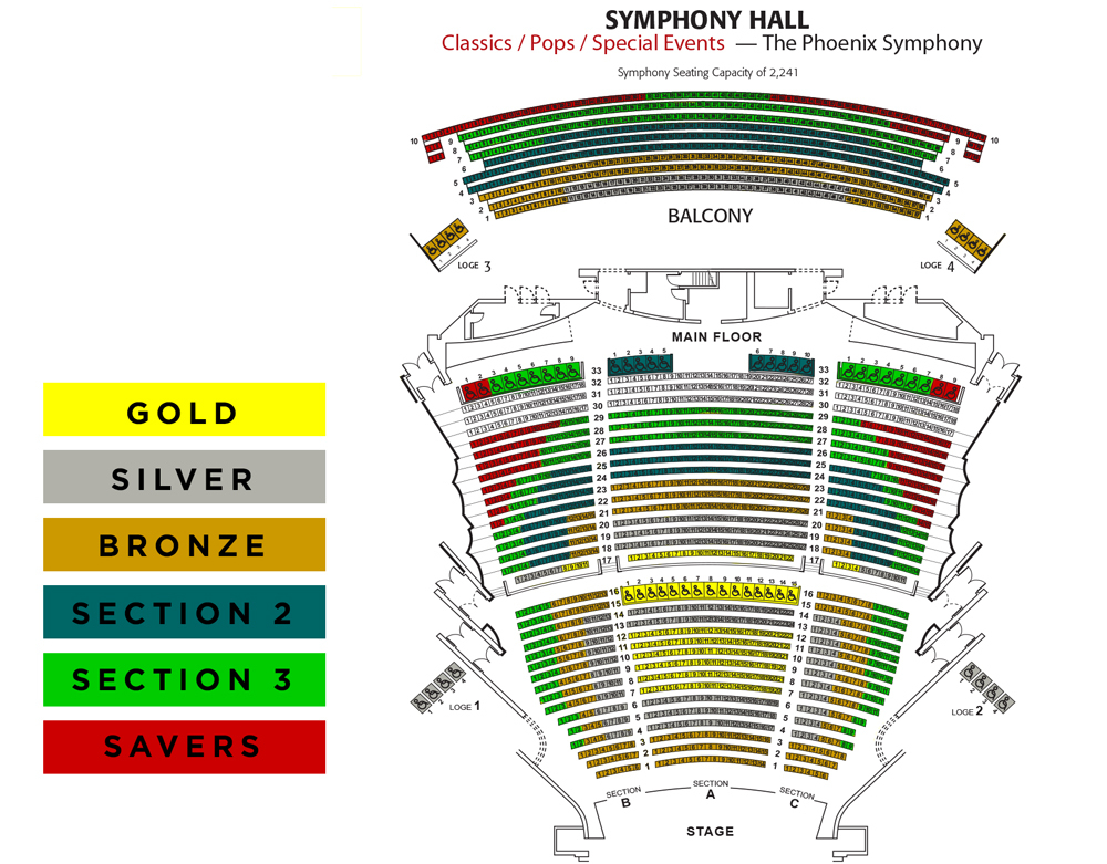 Phoenix symphony hall phoenix tickets schedule seating charts