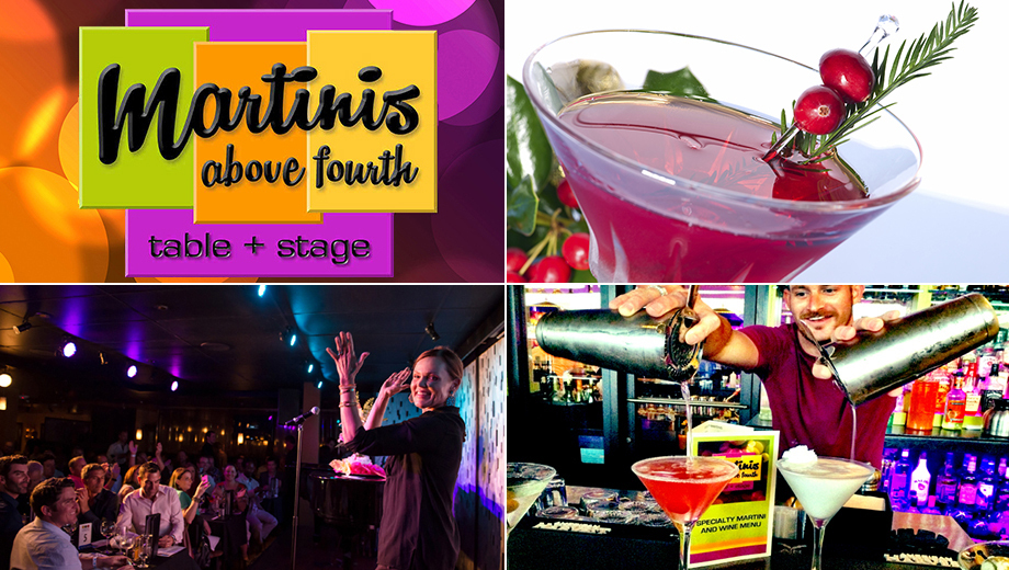 Specialty Martinis, Great Food & Live Music $10.00 - $12.50 ($20 value)