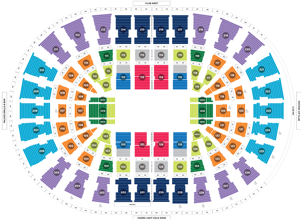 The palace of auburn hills detroit tickets schedule seating