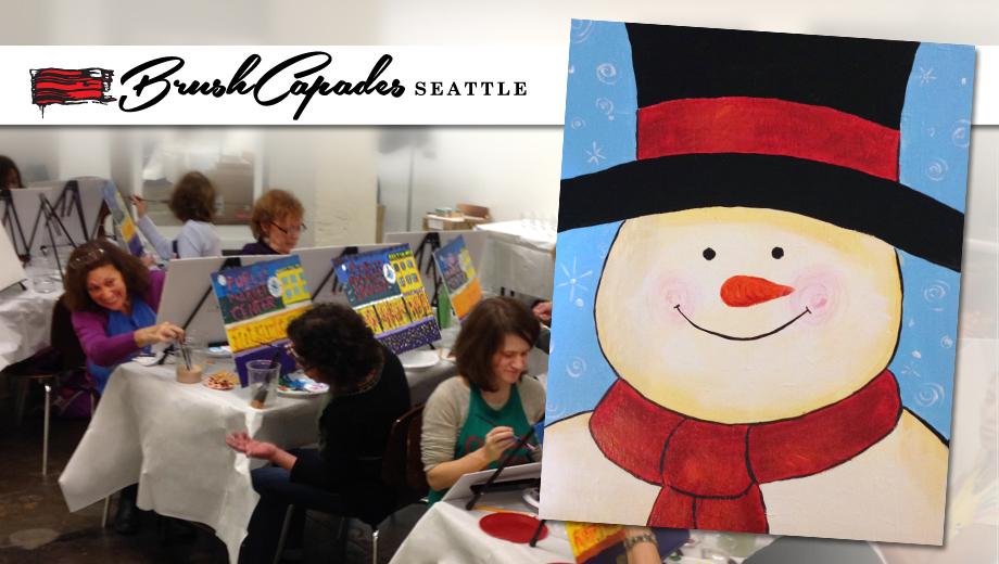 Family Paint Party: Create a Snowman Portrait $25.00 ($50 value)