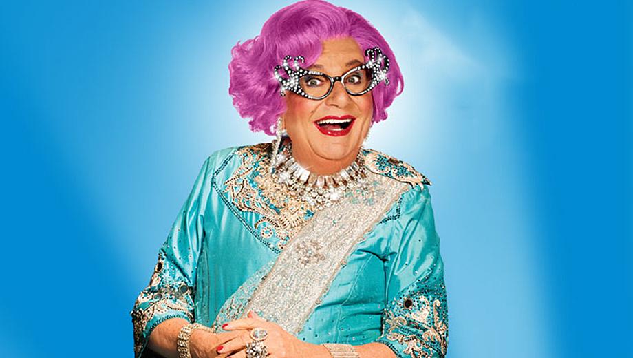 Dame Edna Bids a