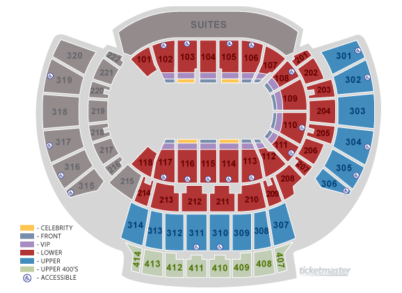 Philips arena seating chart elcho table