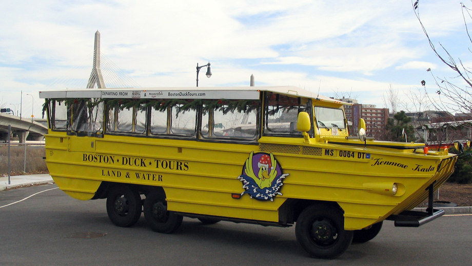 Boston Holiday Duck Tours: Tour Boston by Land and Water $23.16 ($38.74 value)