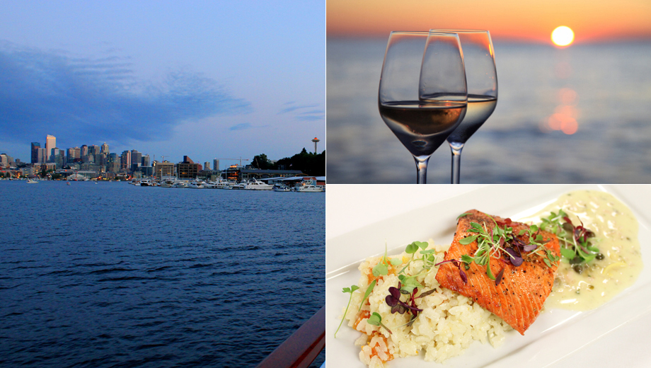 Sunset Dinner Cruise on Seattle's Stunning Lakes $59.00 ($91.32 value)