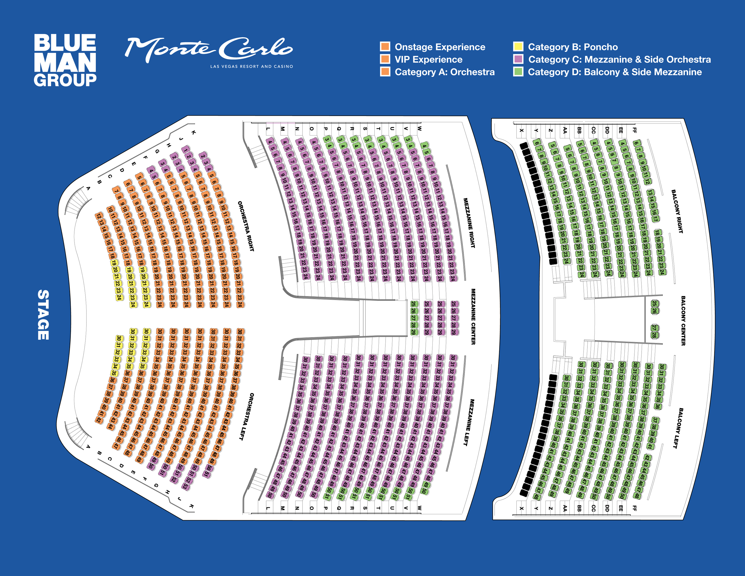 Park Theater Monte Carlo Seating Chart Las Vegas Resort And Tickets