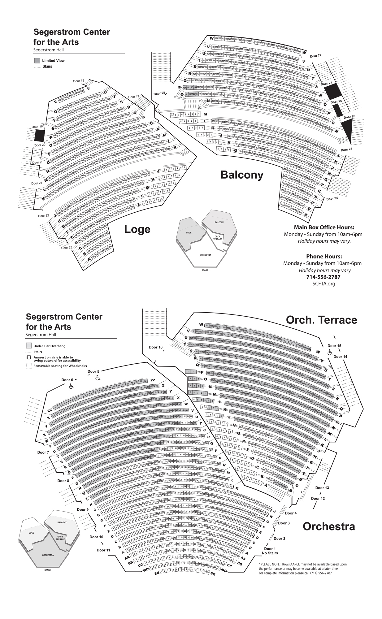Segerstrom Hall Seating Chart