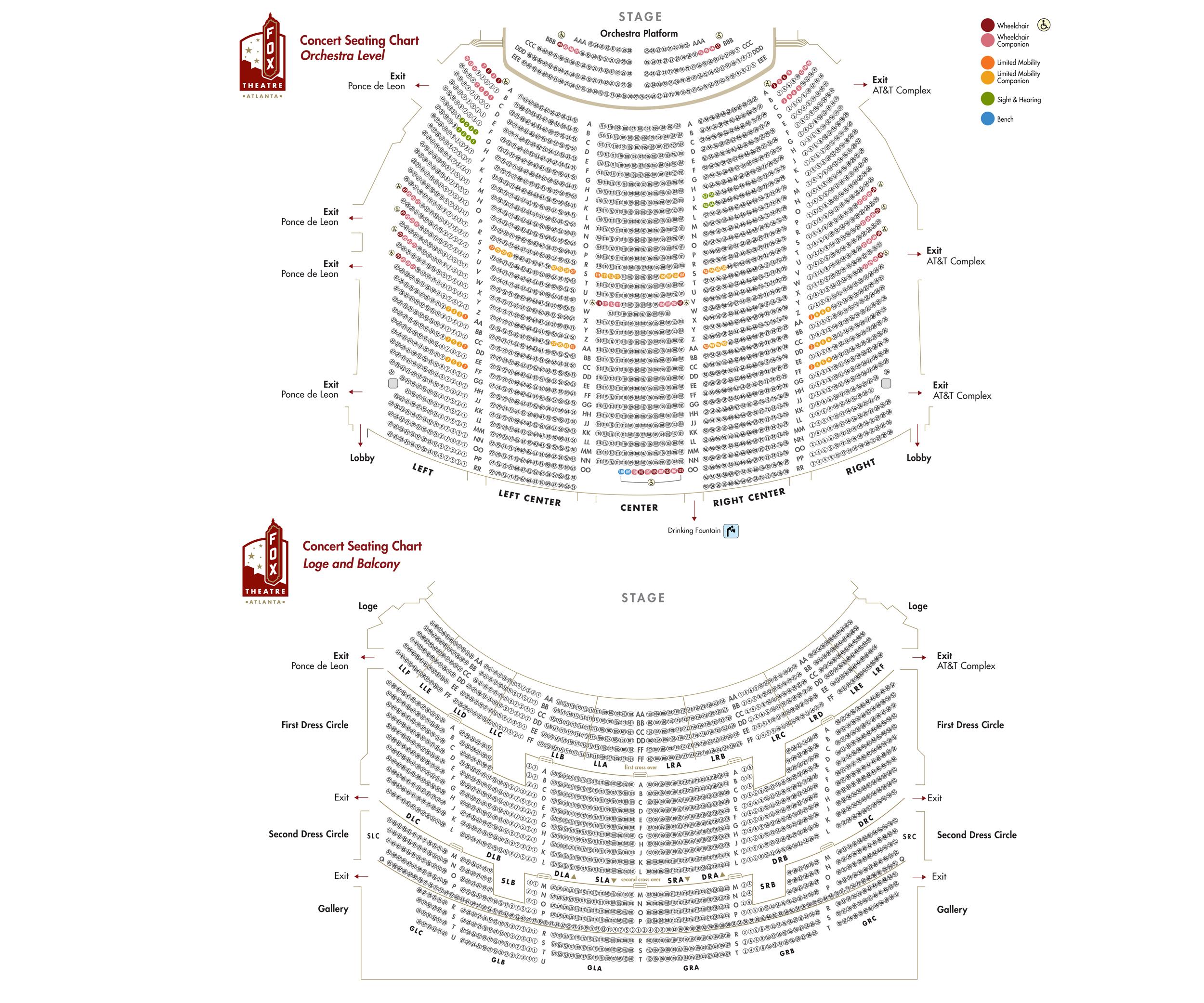 fox theatre atlanta ga tickets schedule seating charts goldstar rh goldstar com fox theater detailed seating chart atlanta fox theater seating chart with seat numbers atlanta