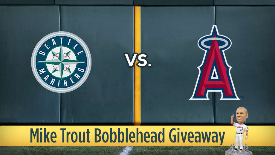 Mlb mariners angels miketroutbobblehead