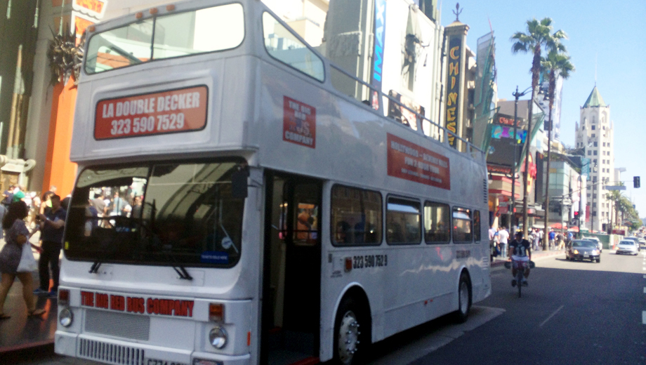 Double-Decker Bus Sightseeing Tour of Hollywood, West Hollywood and Beverly Hills $12.50 ($25 value)