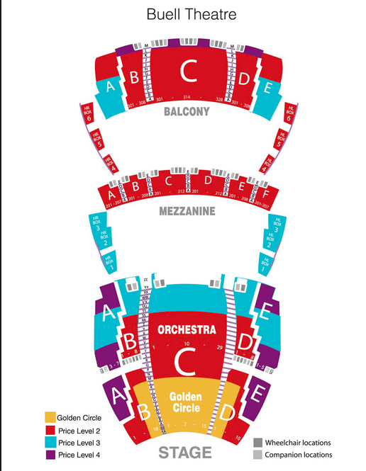 Buell theatre denver tickets schedule seating charts goldstar