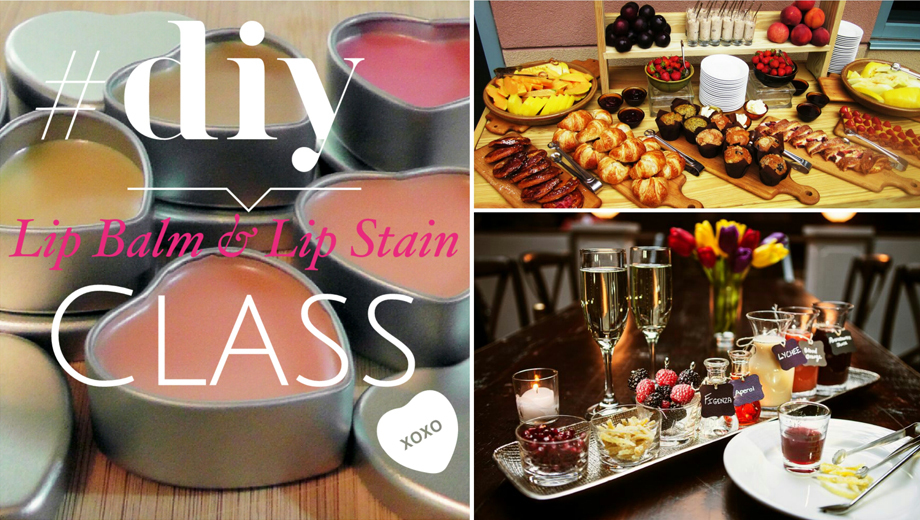 D.I.Y. Lip Balm & Lip Stain Workshop Plus Brunch $65.00 ($130 value)