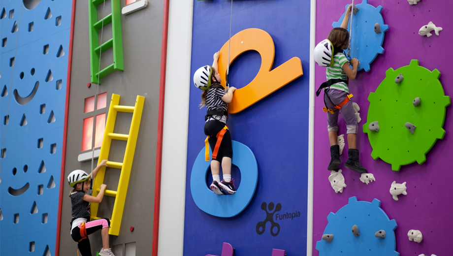 Funtopia: Unique Climbing Challenges For All Ages! $10.00 ($18 value)