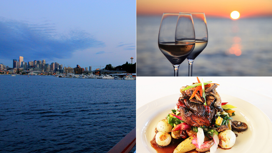 Sunset Dinner Cruise: 4-Course Dinner, Music & Views $59.00 ($91.32 value)
