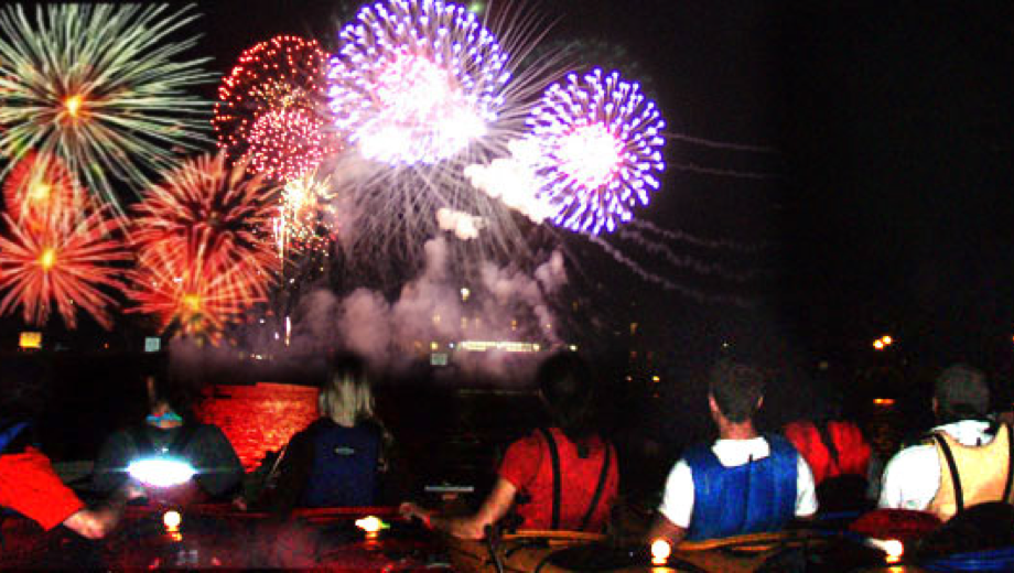 Watch the Navy Pier Fireworks From a Chicago River Kayak $32.50 ($65 value)