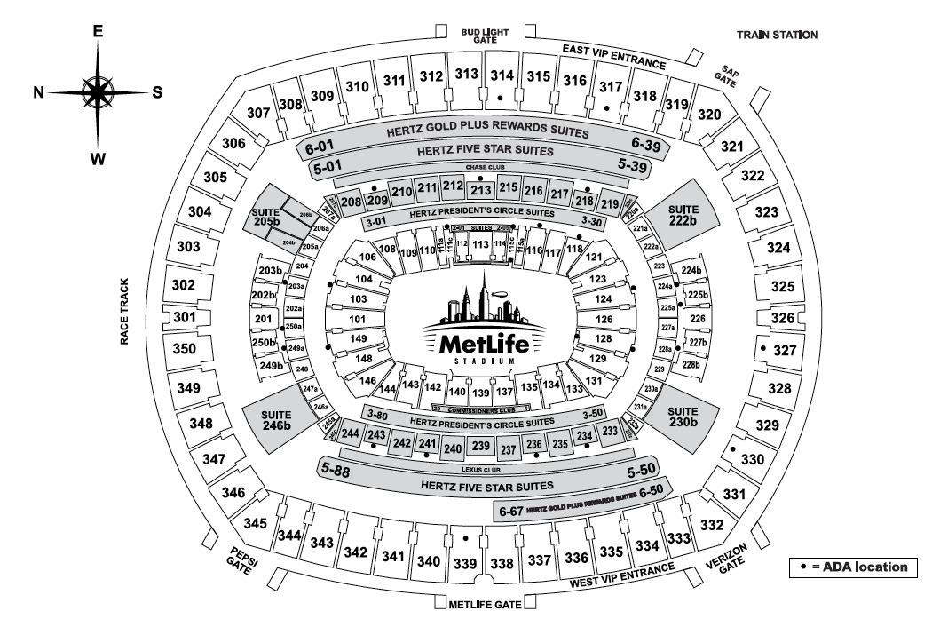 Metlife Stadium East Rutherford Nj Tickets Schedule Seating