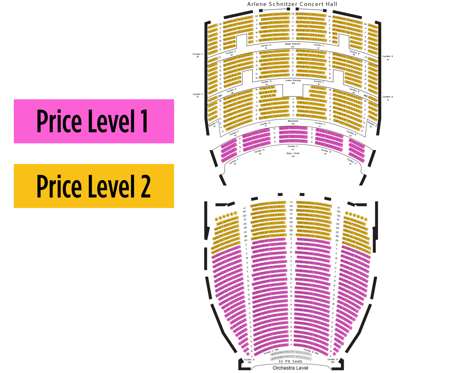 Schnitzer Concert Hall Seating Chart Kirmiyellowriverwebsitescom - Arlene schnitzer seating chart