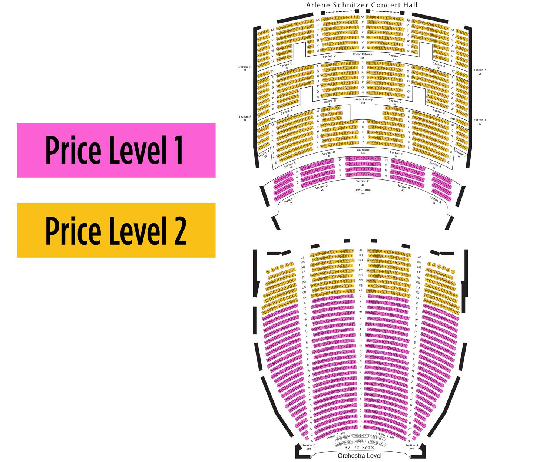 Arlene schnitzer concert hall portland tickets schedule seating
