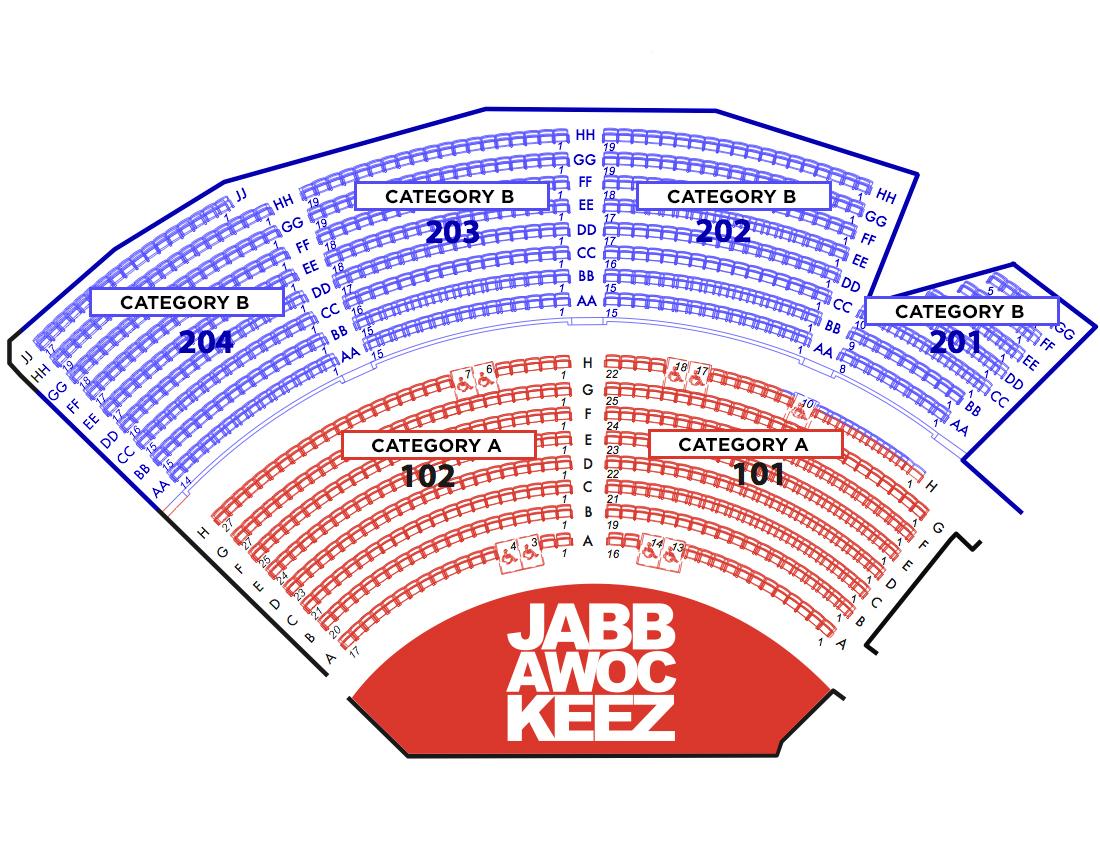 Jabbawockeez theatre las vegas tickets schedule seating charts