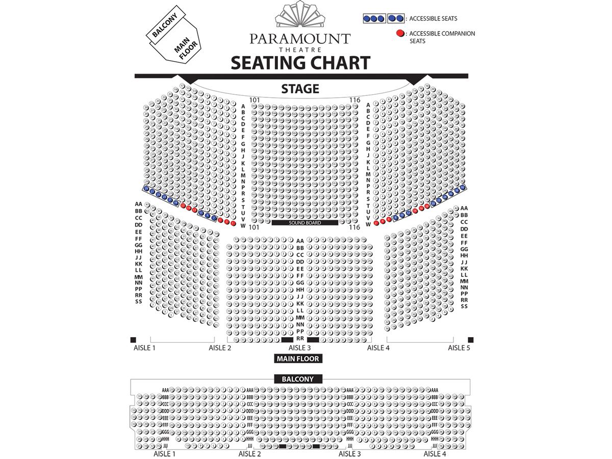 Paramount theatre chicago tickets schedule seating charts