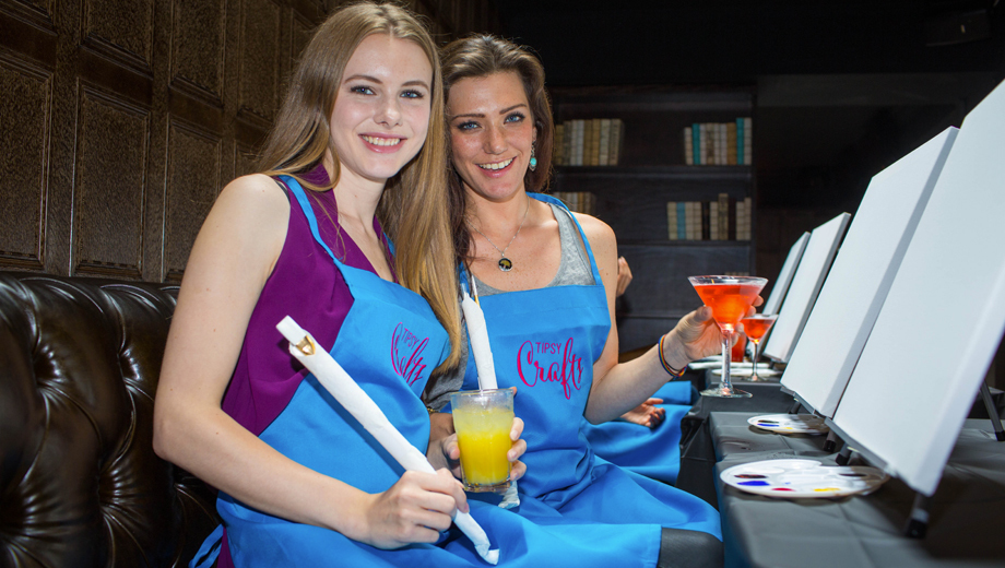Tipsy Crafts Art Classes: Cocktails and Creativity Combine for Fun $29.00 ($60 value)